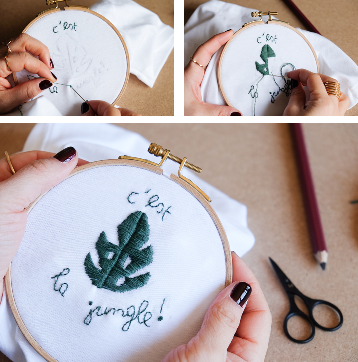 diy broderie jungle morganours