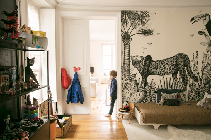 une chambre enfant esprit jungle little. Black Bedroom Furniture Sets. Home Design Ideas