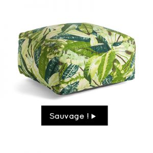 Anniversaire jungle pouf